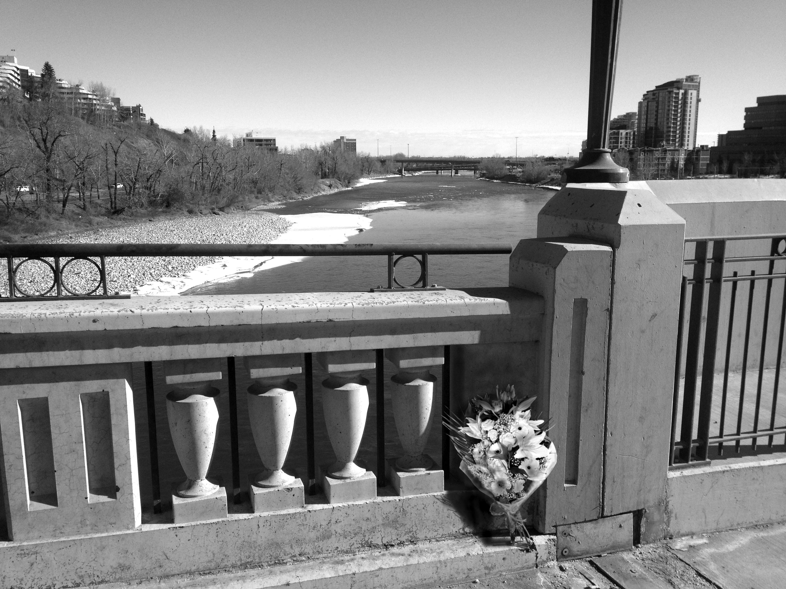 Centre Street Bridge with Memorial Flowers