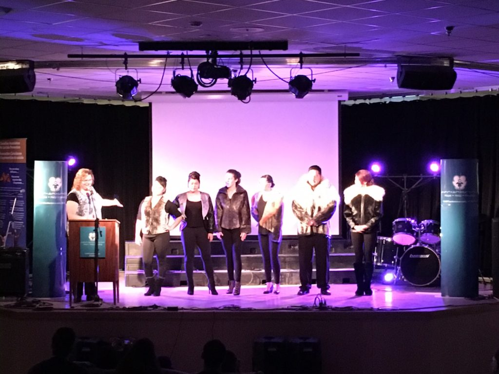 A Fashion Show with all pieces made by Nunavut Arts & Crafts Association, and modeled by local high school students, was featured as part of the conference.